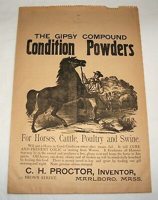 Vintage Advertising Paper Bag Gipsy Compound Condition Powders C.H.Proctor
