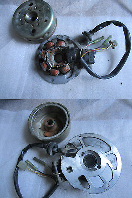 A4. MBK Ovetto 50 Yamaha Neos Lichtmaschine Stator Rotor Wicklung Polrad