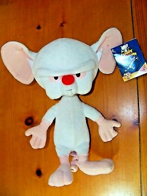 Pinky And The Brain 1995 Dakin Animaniacs Warner Bros Plush Brain