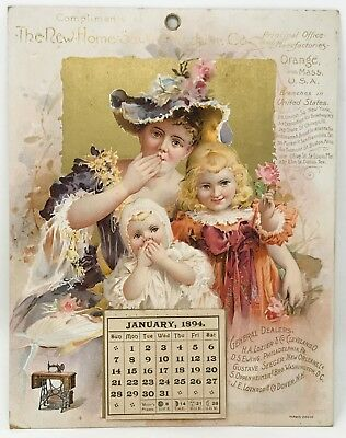 1894 Advertising Calendar for The New Home Sewing Machine Company SCP