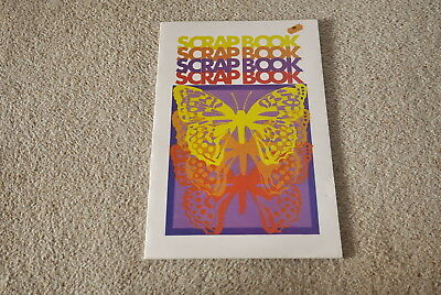 * Vintage 1970s 42 page scrapbook * Butterfly cover * Unused