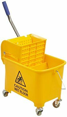 Mind Reader Commercial Mop Bucket - with Down Press Wringer - 22 Quart Capacity
