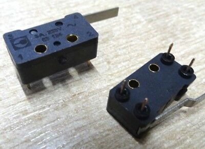 2x Crouzet 83-134-0 PCB mount snap latching microswitch
