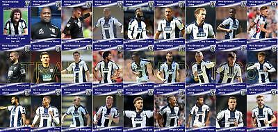 West Bromwich Albion Football Squad Trading Cards 2018-19