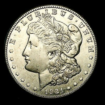 1921 S ~**ABOUT UNCIRCULATED AU**~ Silver Morgan Dollar Rare US Old Coin! #Y35