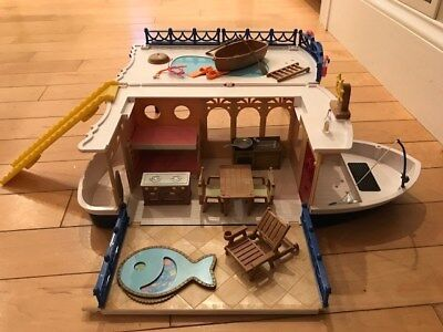 Calico Critters Seaside Cruiser boat toy kids, used