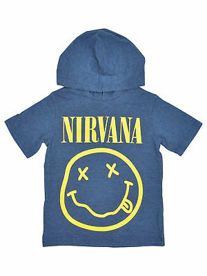 Toddler Boys Nirvana Smiley Face Hoodie T-Shirt Music
