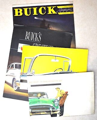 (4) vintage buick advertising pieces from 1951, 1954, 1954
