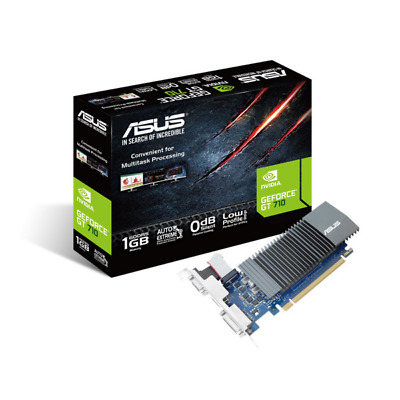 Asus GeForce GT 710-SL-1GD5-BRK 1GB PCIe VGA/DVI/HDMI passiv low profile