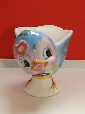 Vintage George Z. Lefton China Cheery Blue Bird Egg Cup