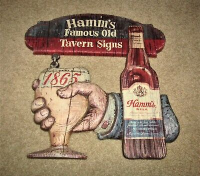 HAMM'S beer FAMOUS OLD TAVERN SIGNS   1970's sign MINNESOTA