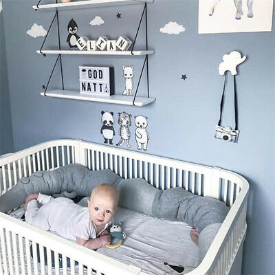 Baby Infant Plush Crib Bumper Bed Bedding Cot Pillow Pad Protector