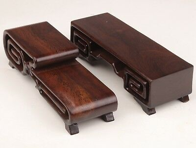 2 Advanced Wood Snuff Bottles Display Stand Base Bracket Old Sculpture