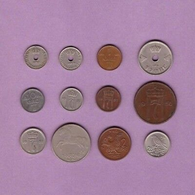Norway (1924-1964) - Coin Collection - Lot # A-18 - World/Foreign/Europe