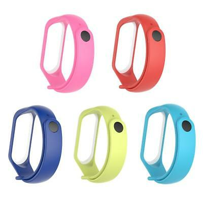 Silicone Watch Leather Loop Sport Band Bracelet Strap for Xiaomi Mi Band 3