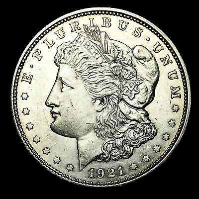 1921 D ~**ABOUT UNCIRCULATED AU**~ Silver Morgan Dollar Rare US Old Coin! #X91