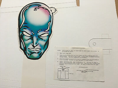 Silver Surfer T-Shirt Dispaly For Retailers Unused 1991 Vintage Marvel Rare