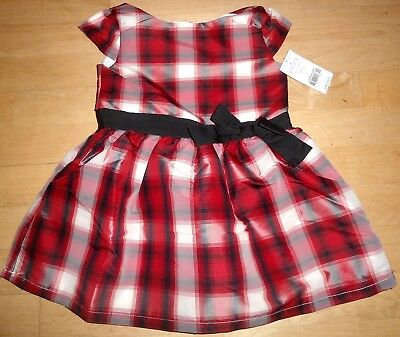 48676b062574 $42 New Carter's Toddler Girl Red Plaid Holiday Check Dress Party Christmas  ...