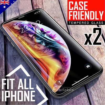 2X Tempered Glass Screen Protector for Apple iPhone 11 Pro Max XS Max XR X
