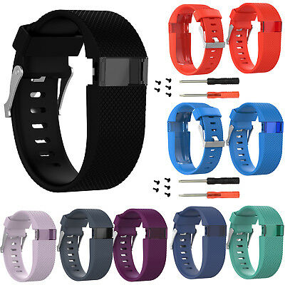 For Fitbit Charge HR Tracker Silicone Wristband Strap Replacement Watch Band L/S