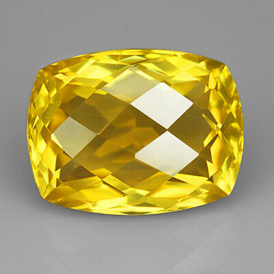 VVS 15.75Ct 100% Natural  Yellow Lemon Citrine Brillant Cut QLCG639