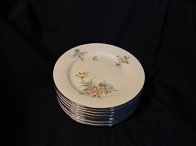 "4 COQUET by NORITAKE SALAD PLATES 8.25"" Fine China #2981 LOVELY ROSE PATTERN"