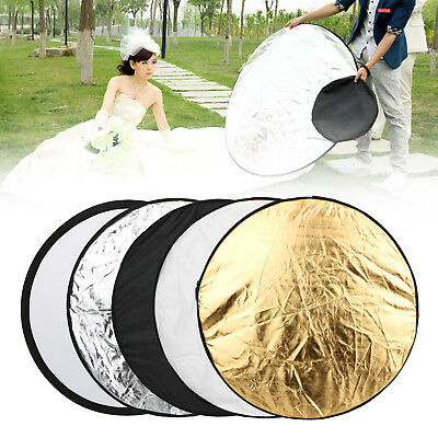 5in1 24 inch Collapsible Photography Studio Video Lighting Reflector Diffuser