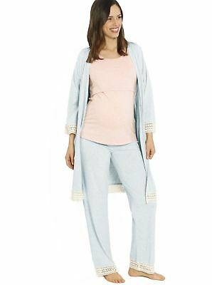 4 Piece Hospital Pack: Robe + Nursing Tank + Pants + Garment Bag