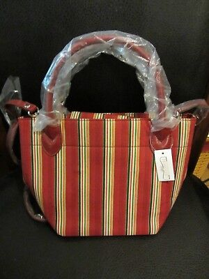 Longaberger HOLIDAY STRIPE Purse 2 Handle or Shoulder Strap Tote Bag  NWT