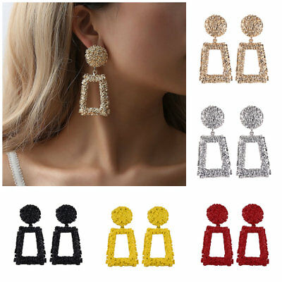 Elegant Charm Boho Statement Big Geometric rectangle Drop Dangle Stud Earrings