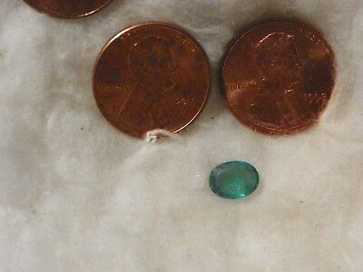 Emerald 1.03 Carats 5.96x7.99x2.91 MM. Oval Heavy Natural Inclusions Transparent