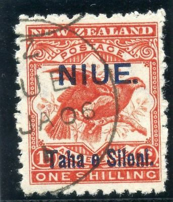 Niue 1903 KEVII 1s bright red very fine used. SG 16. Sc 13.