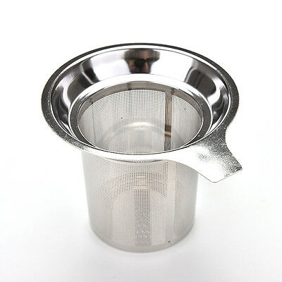 Stainless Steel Mesh Tea Infuser Reusable Filter Loose Tea Leaf Spice Filter JJU