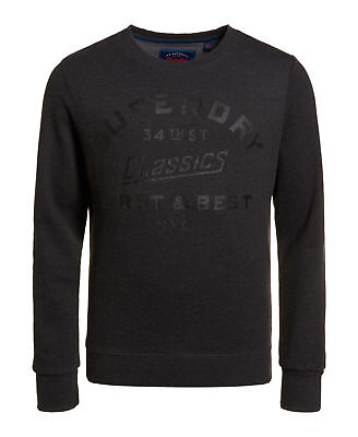 New Womens Superdry Factory Second Stacker AOP Crew Navy Marl