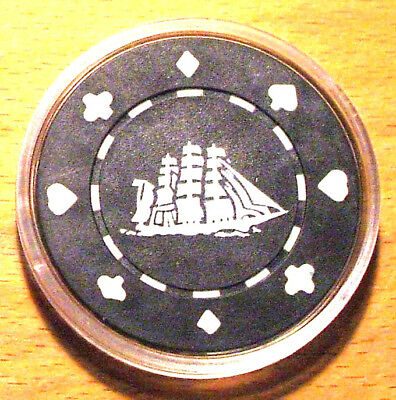CUTTY SARK WHISKEY Poker Chip Card Guard Cover - Black