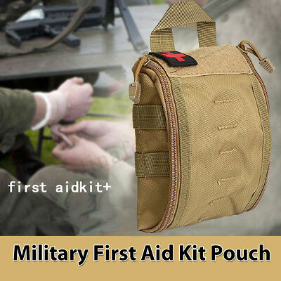 Military First Aid Kit Pouch Tactical Medical Emergency Bag Nylon Waist Belt