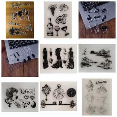 New Transparent Silicone Clear Rubber Stamp Sheet Cling Scrapbooking DIY Decor
