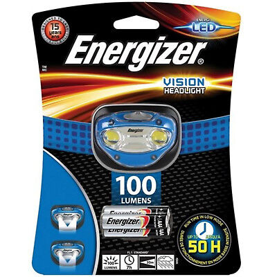 Energizer Vision Focus Headlight with 3 x AAA Energizer Max batteries 100 LUMENS