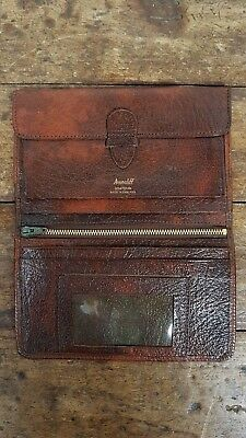 VINTAGE 1960's AVONCLIFF PIGSKIN ENGLISH MADE BIFOLD BROWN LEATHER WALLET