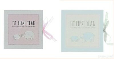My First Year Memories & Moments Record Blue Pink Baby Book New Baby Shower Gift