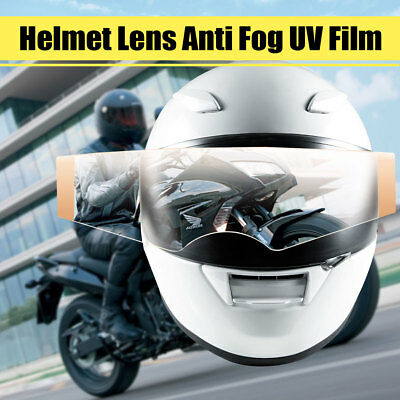 Universal Motorcycle Clear Helmet Shield Visor Insert Lens Anti Fog UV Film