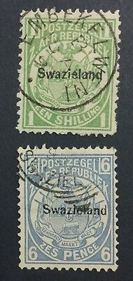 Momen: Swaziland #3,6 Used £75 Lot #6196