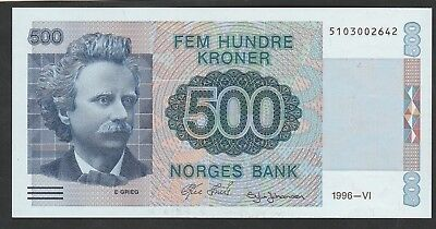 500 Kroner From Norway 1996 Unc