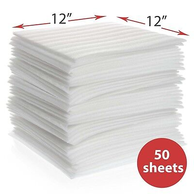 "50-Pack Foam Wrap Sheets 12"" x 12"" Moving Storage Protection Glass Vinyl Records"