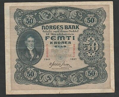 50 Kroner From Norway 1941