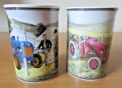 2 x BORDER FINE ARTS JAMES HERRIOT TRACTOR MUGS A Major Decision & The First Cut
