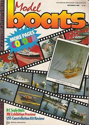 Model Boats Magazine. Volume 38, No. 454, December, 1988. USS Constellation Kit