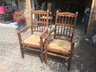 Antique Oak Carver Chairs probably Edwardian
