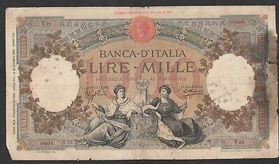 1000 Lire From Italy 1934