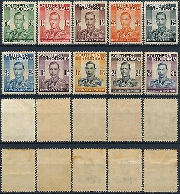 Southern Rhodesia, Um/nh & Mint Lot Of 10 Different Values Stamps. #k238